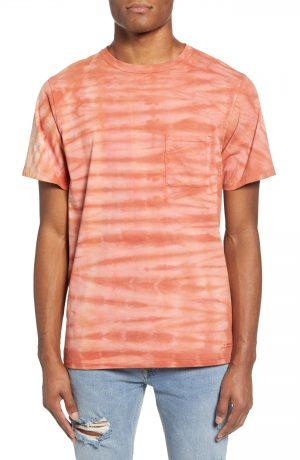 Men's Saturdays Nyc Randall Mineral Wash Pocket T-Shirt, Size Medium - Red