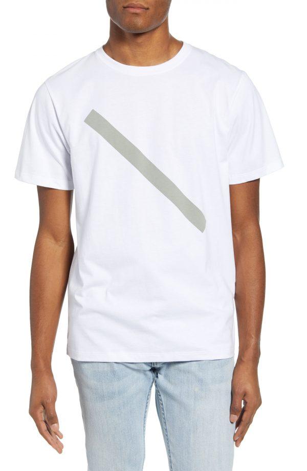 Men's Saturdays Nyc Slash Graphic Tee, Size Small - White (Nordstrom Exclusive)