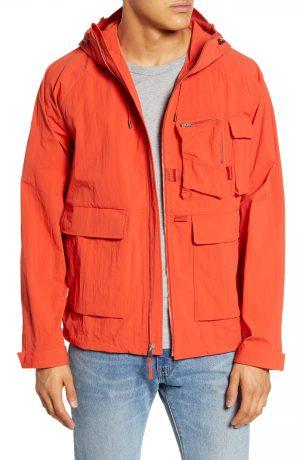 Men's Saturdays Nyc Suzuki Windbreaker Jacket, Size Small - Red