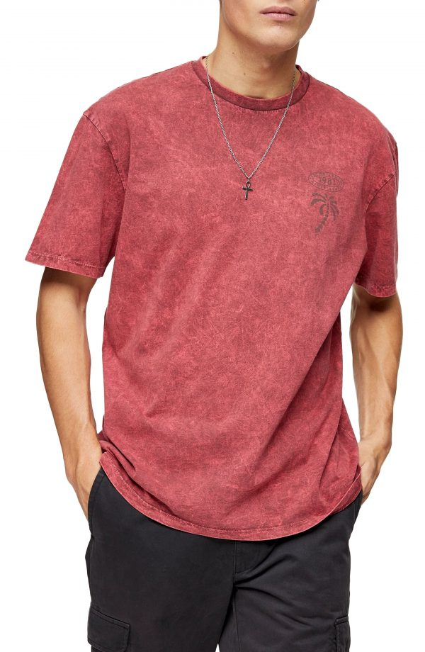 Men's Topman Courage Tiger Graphic Tee, Size X-Small - Red