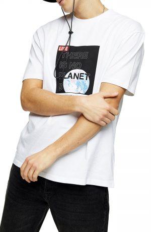 Men's Topman Planet B Organic Cotton Graphic Tee, Size Large - White