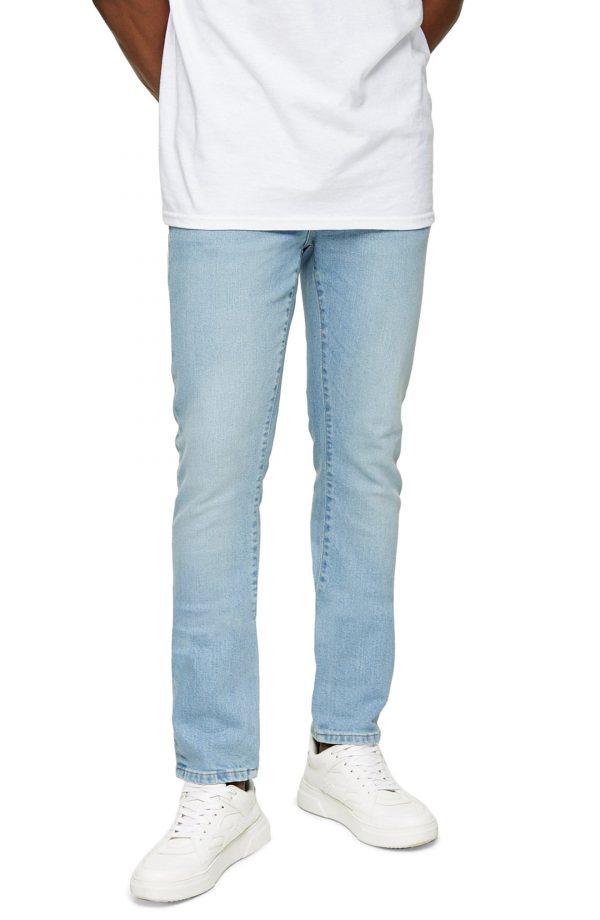 Men's Topman Skinny Fit Jeans, Size 36 x 32 - Blue