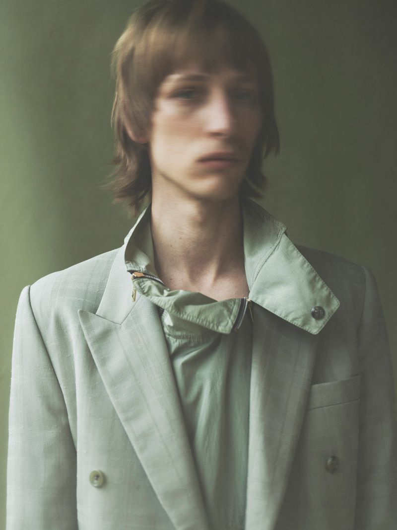 Josef Ptacek dons a linen suit jacket from Paul Smith.