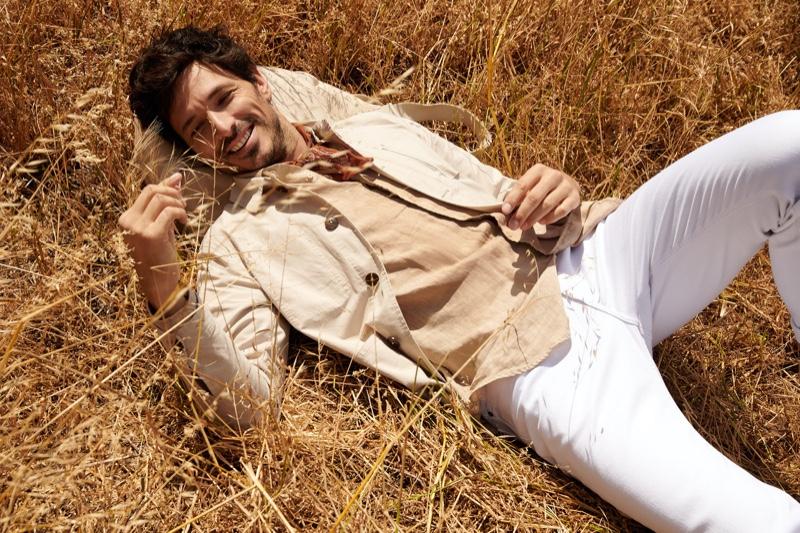 All smiles, Andres Velencoso stars in Peek & Cloppenburg's spring-summer 2020 campaign.