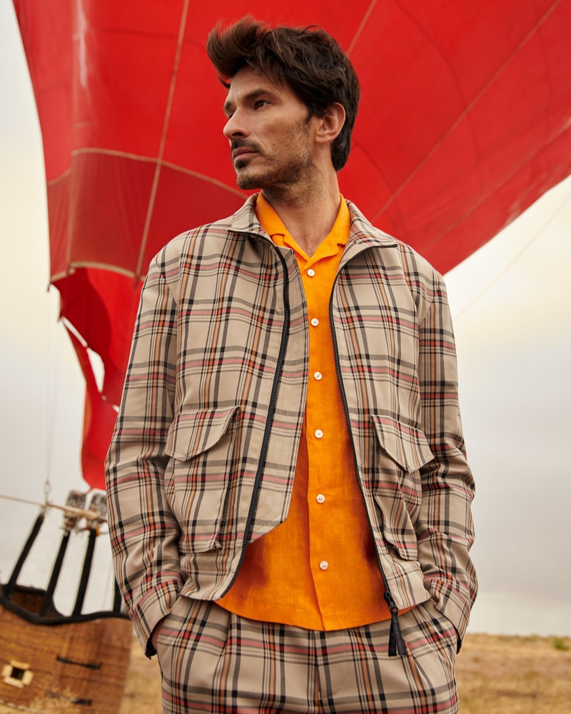 Donning a coordinated checked look, Andres Velencoso fronts Peek & Cloppenburg's spring-summer 2020 campaign.