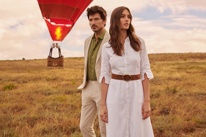 Models Andres Velencoso and Ronja Furrer star in Peek & Cloppenburg's spring-summer 2020 campaign.