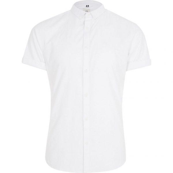 River Island Mens Big and Tall White Oxford Shirt