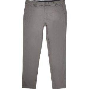 River Island Mens Big and Tall brown skinny fit chino trousers
