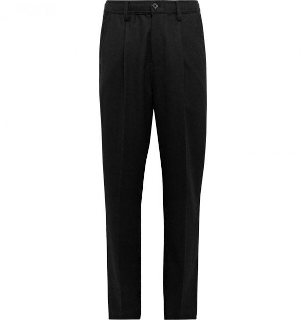 Saturdays NYC - Black Varick Tapered Wool-Blend Trousers - Men - Black