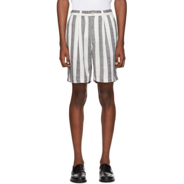 Saturdays NYC Black and White Keigo Shorts