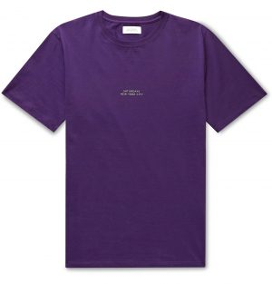 Saturdays NYC - Gotham Logo-Print Cotton-Jersey T-Shirt - Men - Purple