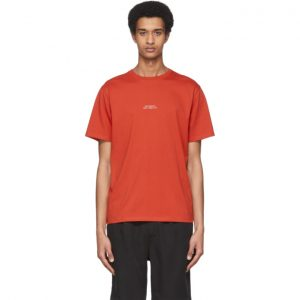Saturdays NYC Red Gotham Chest T-Shirt