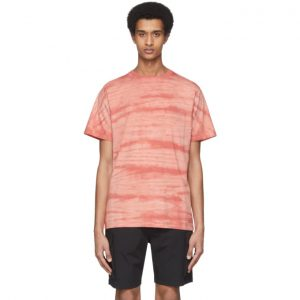 Saturdays NYC Red Randall Mineral Wash T-Shirt