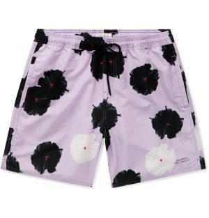 Saturdays NYC - Timothy Mid-Length Floral-Print Swim Shorts - Men - Purple