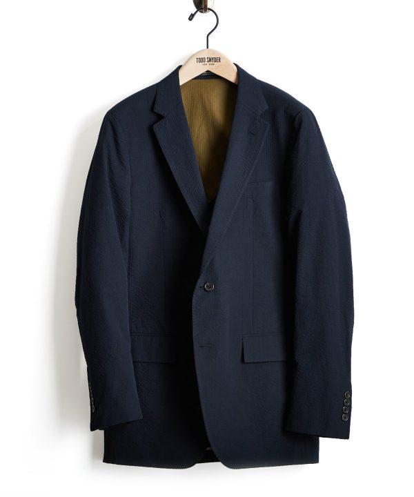 Seersucker Sutton Suit Jacket in Navy