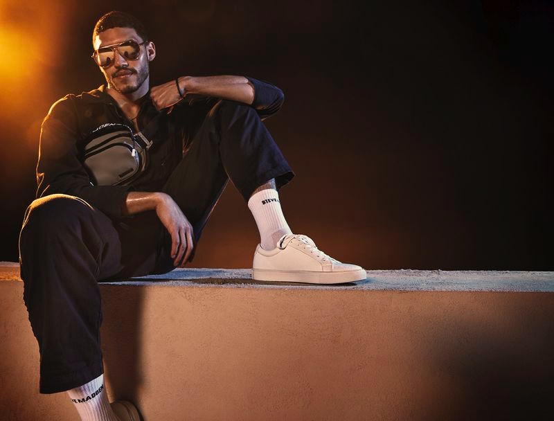 A sporty vision, Dylon Maggio connects with Steve Madden for its summer 2020 campaign.