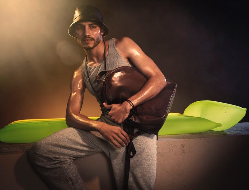 Dylon Maggio fronts Steve Madden's summer 2020 campaign.