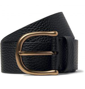 TOM FORD - 4cm Dark-Brown Full-Grain Leather Belt - Men - Black