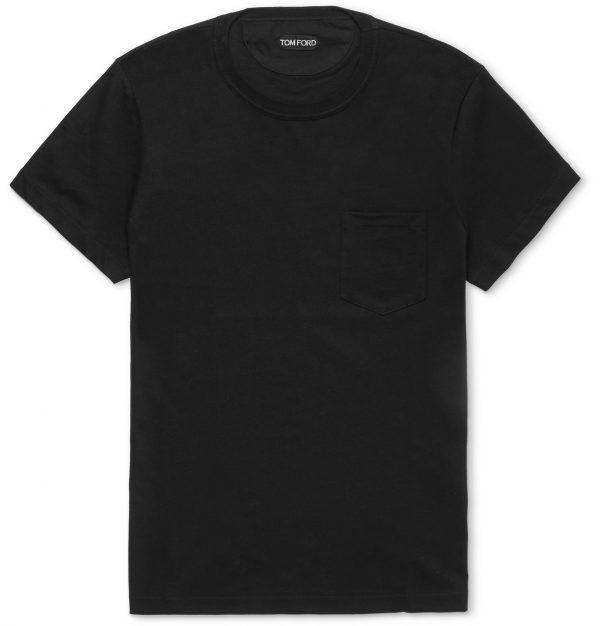 TOM FORD - Cotton-Jersey T-Shirt - Men - Black