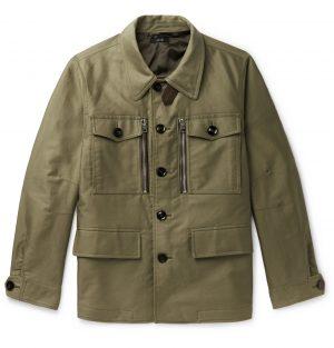 TOM FORD - Cotton-Twill Field Jacket - Men - Green