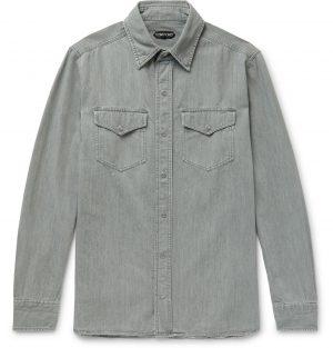 TOM FORD - Denim Shirt - Men - Gray