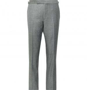 TOM FORD - Grey O'Connor Slim-Fit Super 110s Sharkskin Wool Suit Trousers - Men - Gray