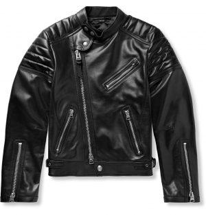 TOM FORD - Icon Slim-Fit Leather Biker Jacket - Men - Black