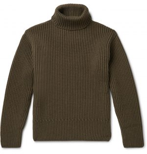 TOM FORD - Ribbed Cashmere Rollneck Sweater - Men - Green