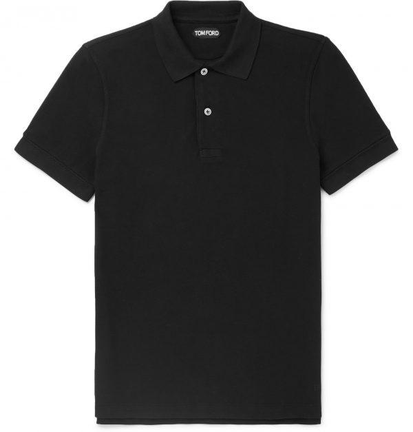 TOM FORD - Slim-Fit Cotton-Piqué Polo Shirt - Men - Black