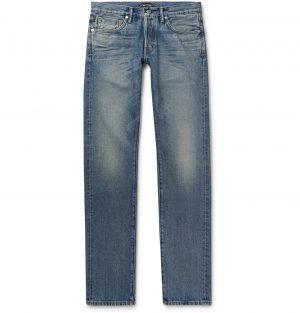 TOM FORD - Slim-Fit Denim Jeans - Men - Blue