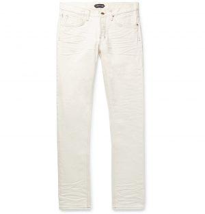 TOM FORD - Slim-Fit Denim Jeans - Men - White