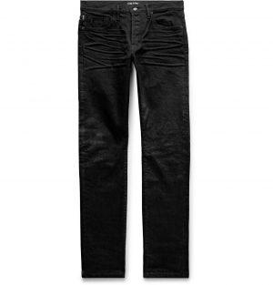 TOM FORD - Slim-Fit Selvedge Denim Jeans - Men - Black