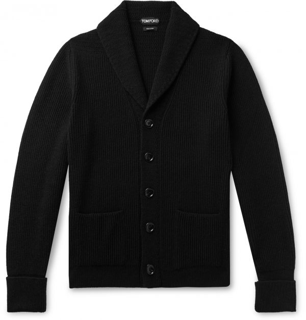 TOM FORD - Slim-Fit Shawl-Collar Cashmere Cardigan - Men - Black