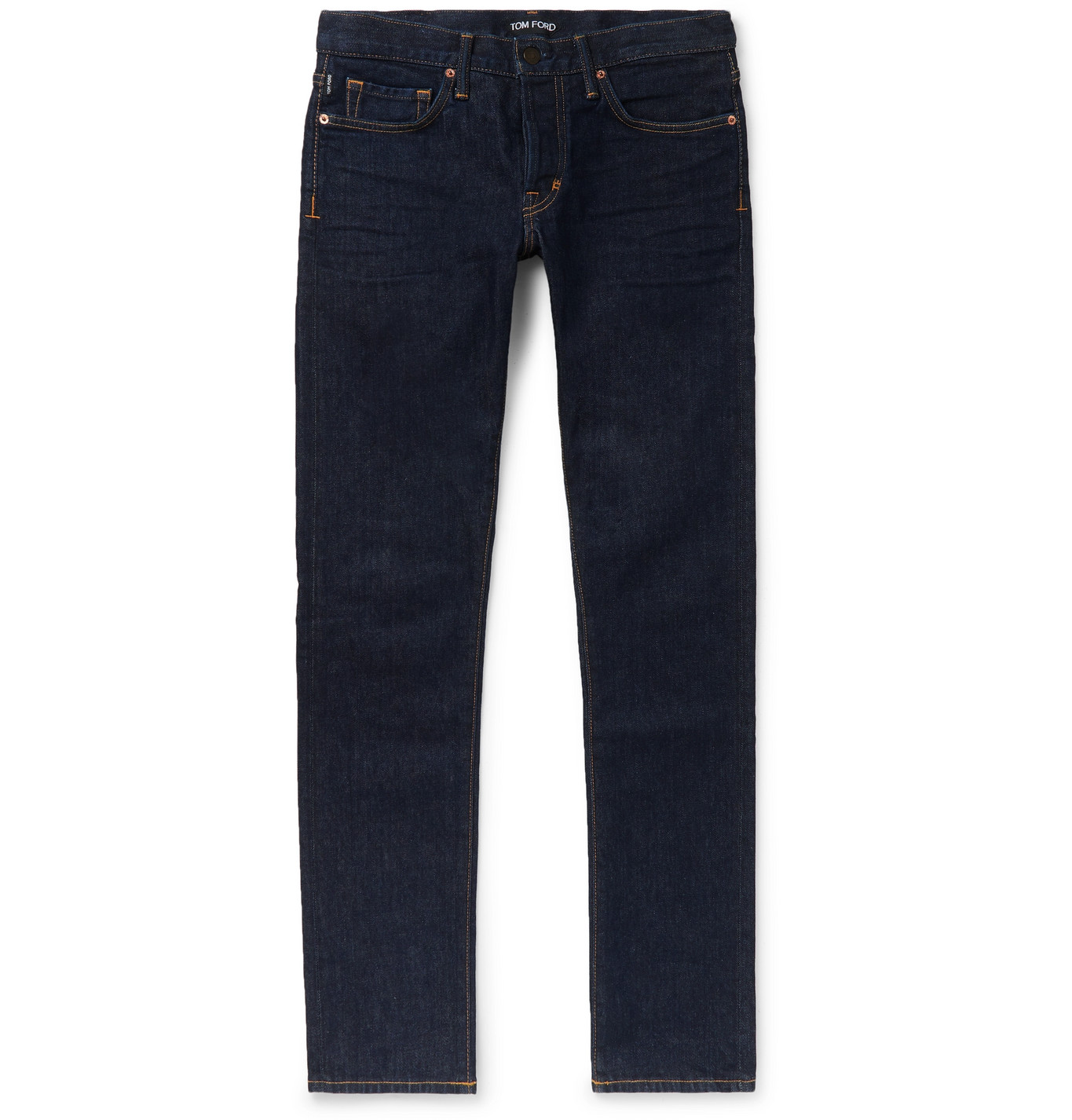 TOM FORD - Slim-Fit Stretch-Denim Jeans - Men - Blue