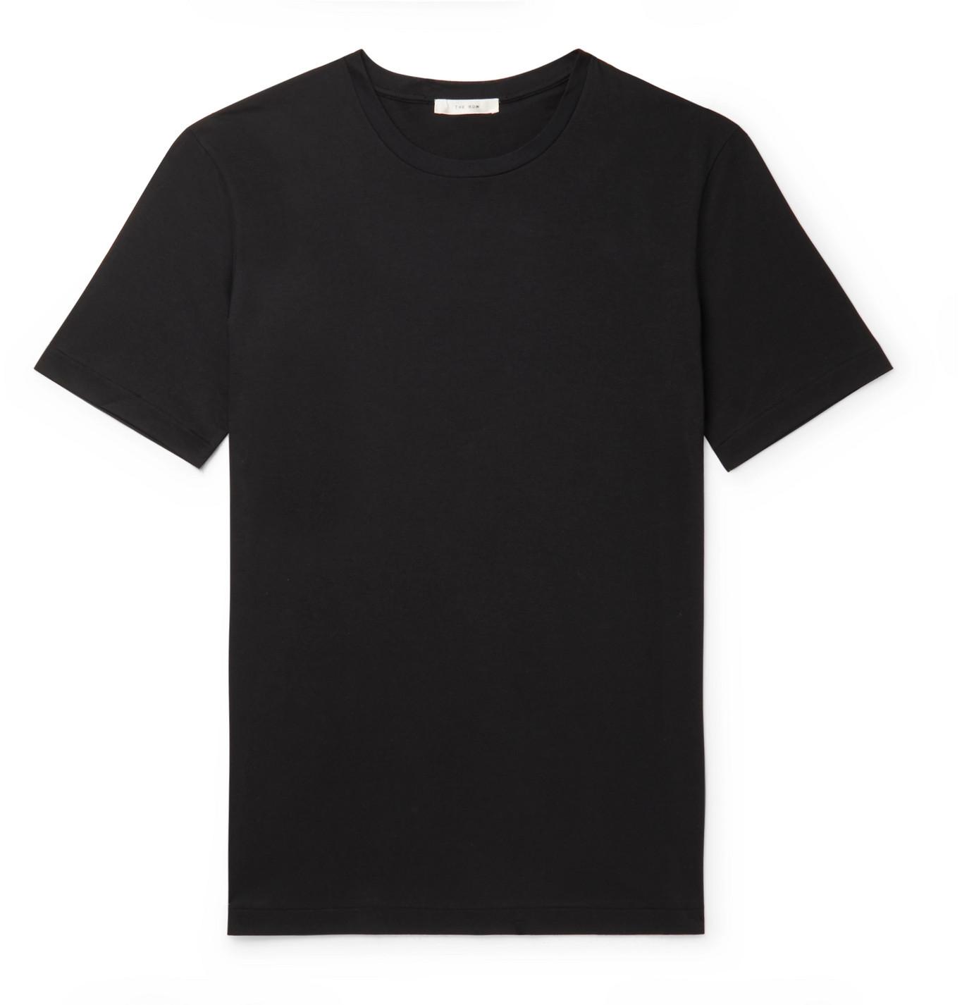 The Row - Luke Cotton-Jersey T-Shirt - Men - Black