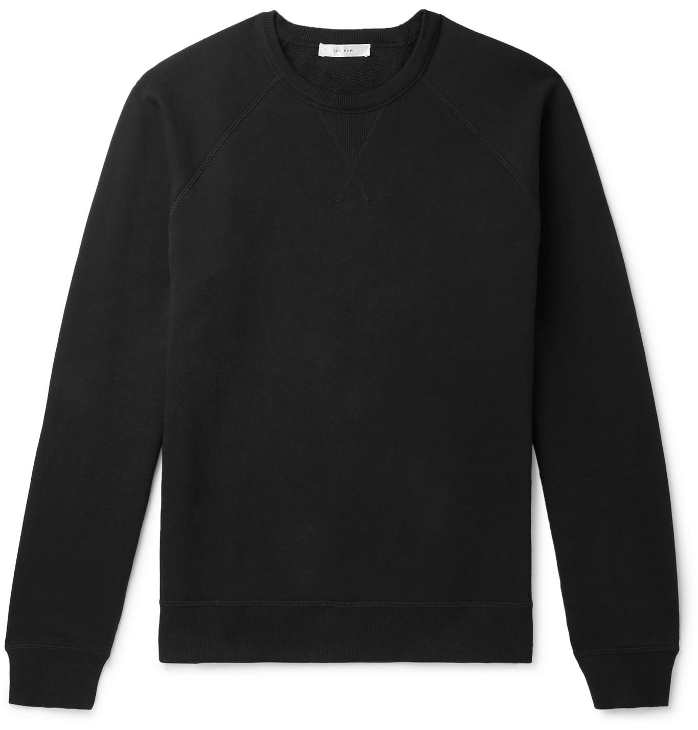 The Row - Sal Loopback Cotton-Jersey Sweatshirt - Men - Black