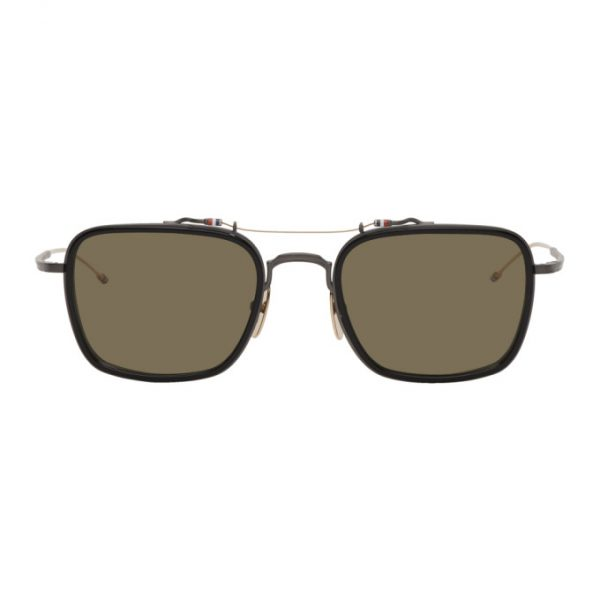 Thom Browne Black and Green TBS816 Sunglasses