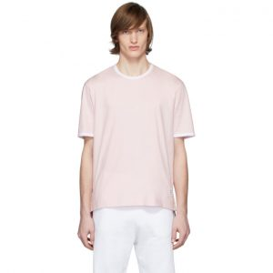 Thom Browne Pink Ringer T-Shirt