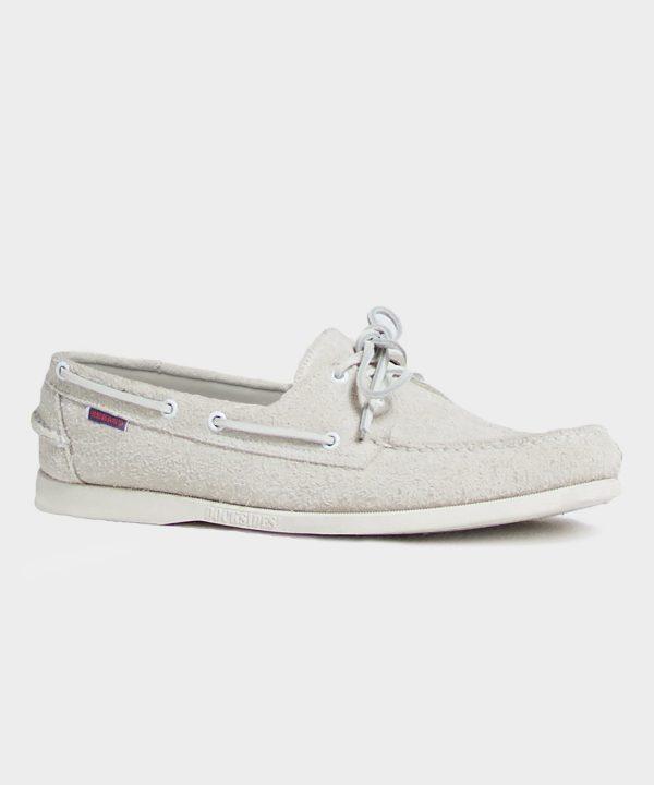 Todd Snyder + Sebago Portland Boat Shoe In White