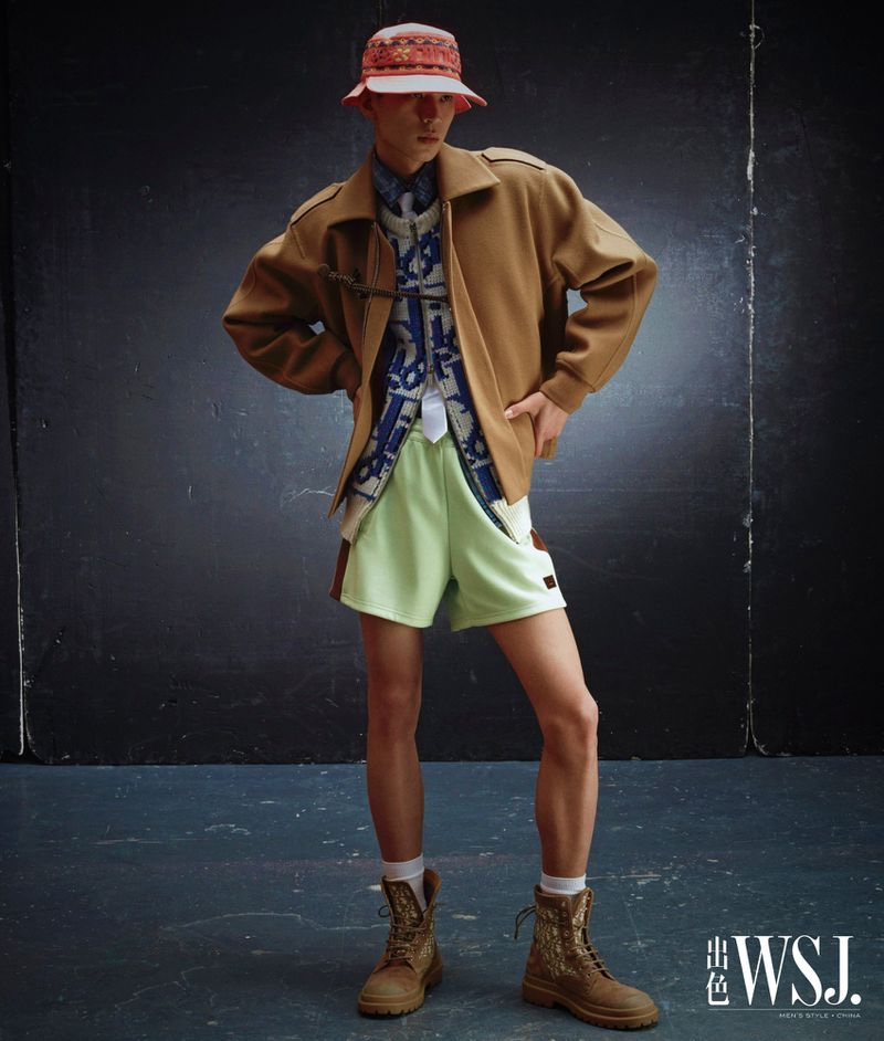 Elvis & Jiao Stunt in Ivy League-Inspired Style for WSJ. Magazine China
