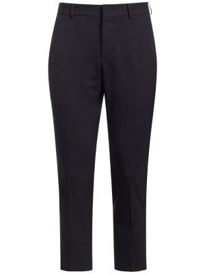 17.5cm Wool Blend Slim Pants