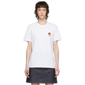 AMI Alexandre Mattiussi White Smiley T-Shirt