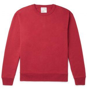 Acne Studios - Fleece-Back Jersey Sweatshirt - Men - Burgundy