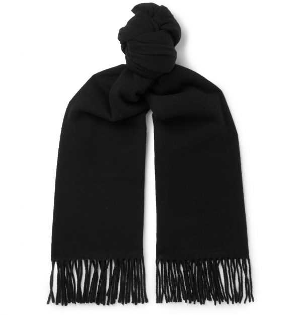 Acne Studios - Fringed Wool Scarf - Men - Black
