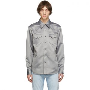 Acne Studios Grey Bla Konst Satin Shirt