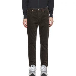 Acne Studios Grey Corduroy Tapered Jeans