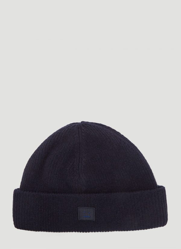 Acne Studios Kansy Knit Hat in Blue size One Size