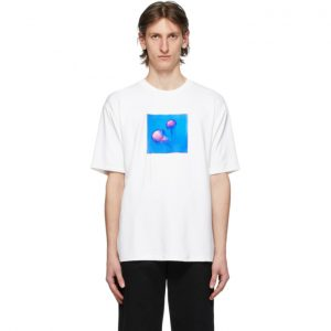 Acne Studios White Jellyfish Patch T-Shirt