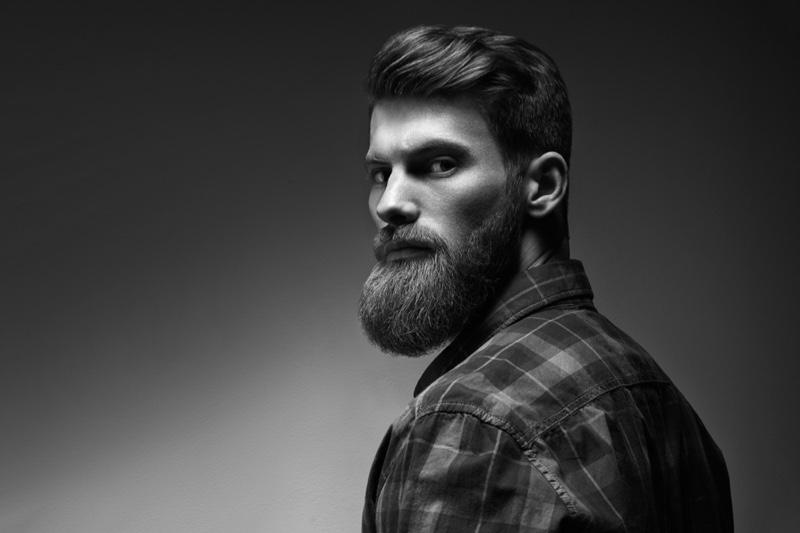 Attractive Male Model Beard Groom Hair