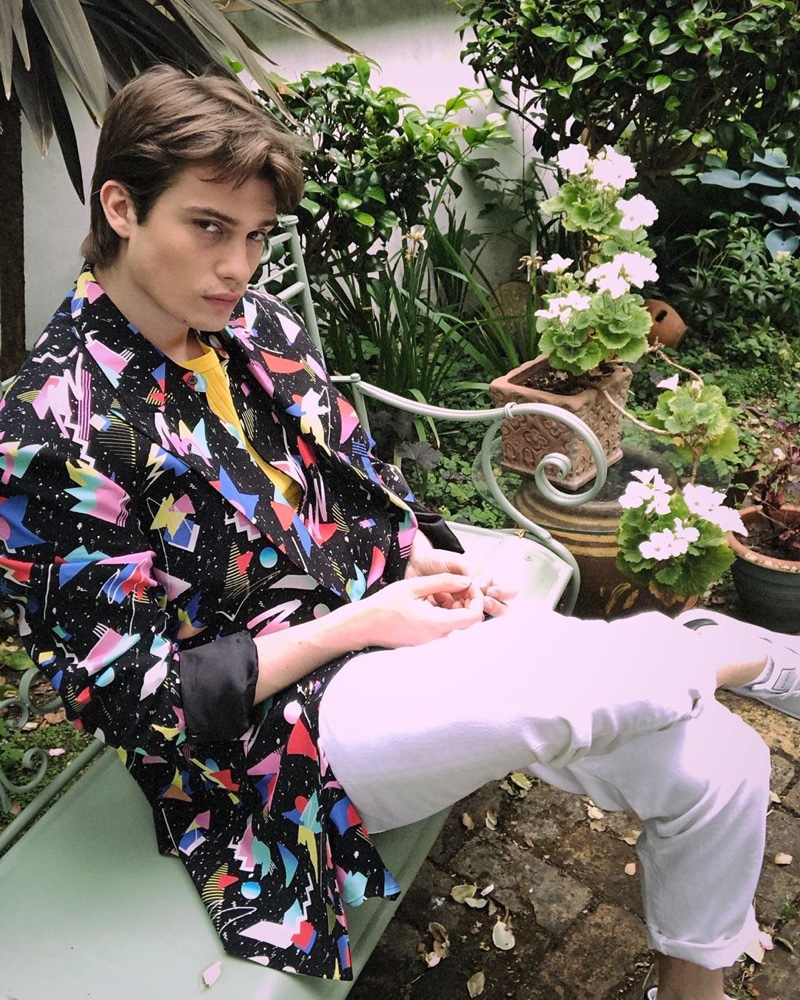 Taking a stylish page from the Fresh Prince of Bel-Air, Nicholas Galitzine fronts Balmain's resort 2021 campaign.